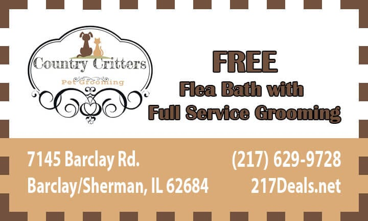 free flea bath coupon sherman illinois